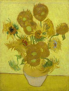 Vincent Van Gogh (1853–1890) - Tournesols dans un vase, 1889 - Huile sur toile - 95 x 73 cm - Amsterdam, Van Gogh Museum