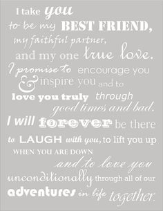 These were our wedding vows. Thought I had lost them when I deleted my wedding b… These were our wedding vows. Thought I had lost them when I deleted my wedding board, but managed to find them! Oh so happy to read them again, The Words, My Sun And Stars, Before Wedding, Just Dream, Love You, My Love, I Love My Hubby, Love Of My Life, Love And Marriage