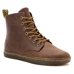 Dr. Martens Leyton 7 Eye Boot | Women's - Dark Brown Burnished Wyoming - FREE SHIPPING at OnlineShoes.com