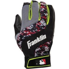 Franklin Sports Digital Shokwave Youth Batting Gloves, Multiple Colors, Red