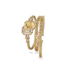My Chain bracelet - My Chain bracelet in yellow gold, smoky quartz rutile and diamonds at the CHANEL Fine Jewelry website. Jewelry Tree, High Jewelry, Cute Jewelry, Jewelry Shop, Gold Jewelry, Jewelry Accessories, Fashion Accessories, Women Jewelry, Jewelry Design