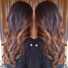 Brunette and Caramel Balayage Babe. Spring hair. 916-444-2136 #StyledByKate Instagram: @StyledByKate_