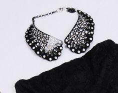 Black Collar with swarovski By Sweet Papillon $199