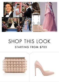 """""""Attending the wedding of Crown Princess Victoria of Sweden and Daniel Westling at Stockholm Cathedral"""" by swedish-princess ❤ liked on Polyvore featuring TIARA, Elie Saab, Oscar de la Renta and Rupert Sanderson"""