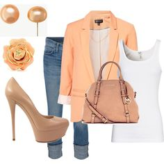 I am completely in love with this whole outfit, I already have the earrings and a neutral shoe!