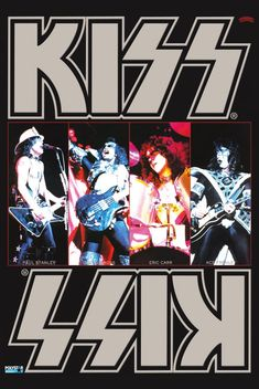 """This sale is for a stand-up display collage of KISS during their """"DYNASTY"""" era look. Peter Criss had already left or been asked to leave depending on who you hear it from and was replaced by """"The FOX"""" character featuring Eric Carr behind the dr. Paul Stanley, Gene Simmons, Rock & Pop, Rock N Roll, Kiss Memorabilia, Kiss Group, Eric Carr, Kiss Art, Hot Band"""