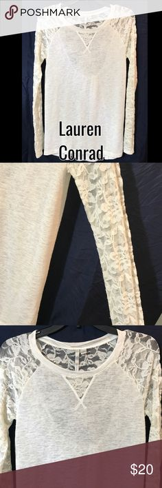 Stunning Lauren Conrad Small White Top. The pictures does this no justice, very Cute and Comfy, great for any occasion. Please feel free to ask me any questions, and reasonable offer accepted, so ask away LC Lauren Conrad Tops Blouses