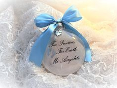 Baby Miscarriage Memorial Ornament, Too Precious for Earth Mi Angelito Early Pregnancy Signs, M M Candy, Memorial Ornaments, Own Quotes, How To Make Ornaments, Glass Ornaments, Gift Wrapping, Earth