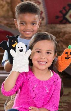 Häkelmuster für Halloween-Fingerpuppen