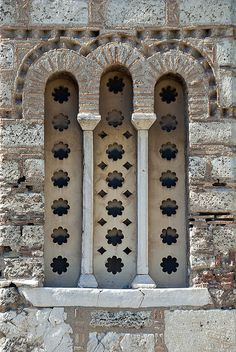 Athens - Byzantine Church of Holy Apostles WIndow Detail, via Flickr.