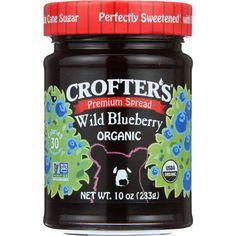Crofters Fruit Spread - Organic - Premium - Wild Blueberry - 10 Oz - Case Of 6
