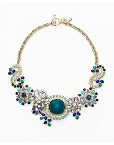Ann Taylor Society Paisley Statement Necklace #refinery29