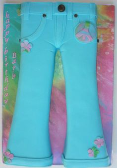 Bell Bottom Jeans cake: 70's themed party - Cake by Cakery Creation Liz Huber