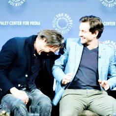 Hugh Dancy and Mads Mikkelsen.
