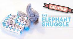 Amigurumi elephant snuggle