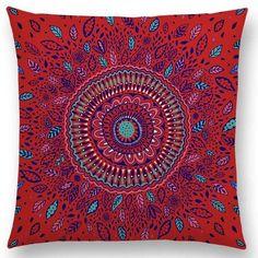 Hot Sale Beautiful Leaf Sun Flower Gorgeous Floral Doodle Colourful Paisley Decorative Pattern Mandalas Cushion Sofa Pillow