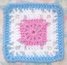 This crochet pattern is perfect for beginners. Start with one Basic Rectangle Granny square and soon enough you'll have a granny square afghan! All you have to do is be able to work up shell stitches to get one of these granny square patterns going.