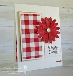 Art with Heart Team Colour Creations blog hop. Stampin' Up! Real Red. Week 42.