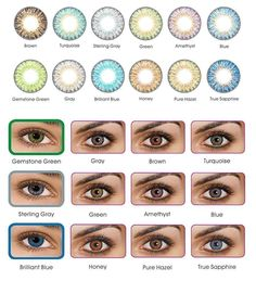 COLOR CONTACTS 12 COLORS TO CHOOSE FROM. FREE SAME DAY FAST SHIPPING