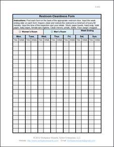Restaurant Task List  Restaurant Bathroom Cleaning Checklist Classy Bathroom Cleaning Schedule Design Ideas