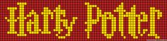Harry Potter logo perler bead pattern - I bet this would work for cross stitch too