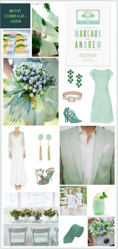 Mint, Emerald + Aqua wedding inspiration Absoultly love these colors for a wedding Emerald Green Weddings, Wedding Mint Green, Aqua Wedding, Dream Wedding, Wedding Day, Chic Wedding, Wedding Reception, Mint Color Schemes, Wedding Color Schemes