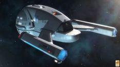 A TMP-era refit version of the Ares-Class starship design from the fan film Axanar. Starship U. Uss Discovery, Starfleet Ships, Star Trek Characters, Star Trek Starships, Star Trek Tos, Star Wars, Star Trek Universe, Star Trek Ships, Science Fiction Art