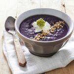 #1VELLUTATA di patate violette e cavolfiore verde