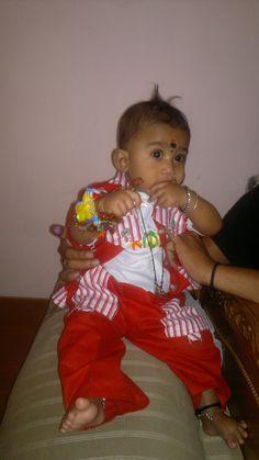 First Rakhi of my son