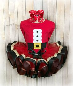 christmas mrs claus santa tutu dress and rhinestone belt. Black Bedroom Furniture Sets. Home Design Ideas