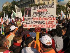 Manifestation nationale  pour la défense du service public d'éducation (19 Oct 2008)