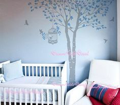Tree wall decal baby girl Nature Tree Wall Mural by DreamKidsDecal