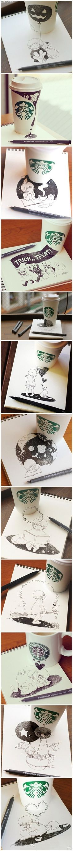 starbuck cup doodles