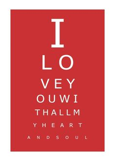 love eye charts