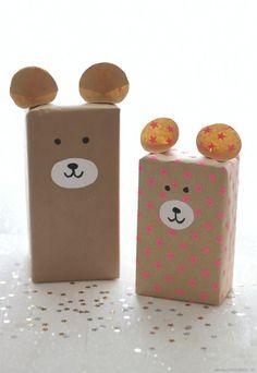 Süße Verpackungsideen für den nächsten Kinder-Geburtstag: http://emmabee.de/2015/12/21/lastminute-verpackungsideen-fuer-kleine-strahlende-augen/