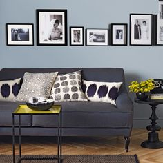 10 Blue Color Of The Year Color Schemes You Should Know About, Home Decor,  Painting, Gray And Sky Blue With Black Trims Are Perfect
