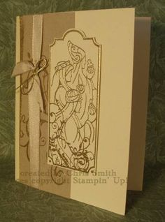 Kraft Taffeta with Gold by inkpad - Cards and Paper Crafts at Splitcoaststampers