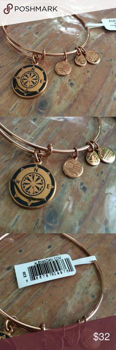 Compass Charm Bracelet Rose gold....great condition...shiny new Alex & Ani Jewelry Bracelets
