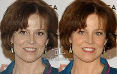 Sigourney Weaver Photoshop Makeover - the before and after of celebrity retouching and airbrushing ... for REAL makeovers for REAL women contact www.stylecreation.com.au !