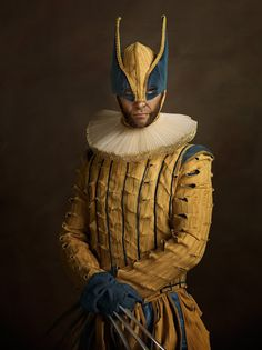 Amazing photo art project by Sacha Goldberger where he imagines how superheroes and pop-culture icons would look like if they lived in Elizabethan era. Paintings Famous, Famous Artwork, Amazing Spiderman, Incredible Hulk, Pablo Picasso, Marvel 1602, Marvel Dc, Marvel Comics, Sacha Goldberger