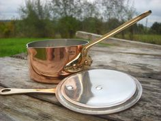 Quality Vintage French Copper Small Proper Sauce Pan by NormandyKitchen, €26.00