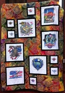 Hard Rock Cafe T-Shirt Quilt- have to make one with all my shirts.