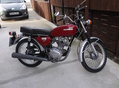 1975 HONDA CB 125S, RED for my brother Dave