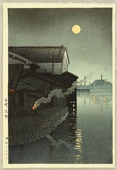 Amagasakiby Hasui Kawase 1883-1957