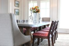Birds of a Feather... love the fabric used on the seats :)