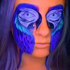 How cool is this design by @novaverabodypaint #faceart #faceartist #mua #makeup #makeupartist #muotd #facepaint #facepainting #creativemakeup #awardwinningmagazine #dupemag