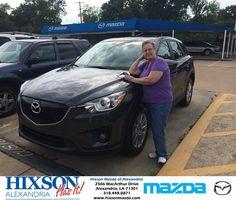Congratulations to Brenda Edwards on your #Mazda purchase from Brandon Holloway at Hixson Mazda of Alexandria! #HixsonHasIt