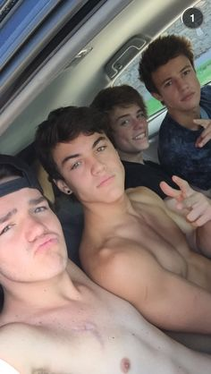 Cameron and Aaron and Ethan Dolan and Jack dail