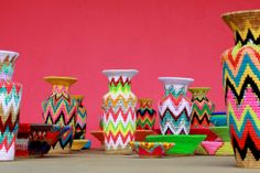 Africa is Sharp! Gone Rural Fluoro Vases – Series 2 by Philippa Thorne, Gone Rural, Swaziland.