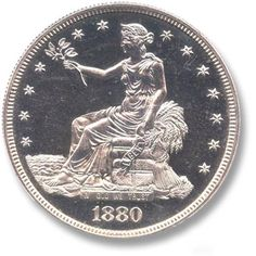 Trade Dollar 1873-1885 Coin Auctions, World Coins, Rare Coins, Coin Collecting, Collection, Art, Beautiful, Kunst, Art Education
